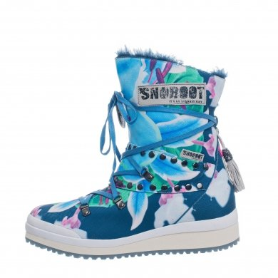Snoboot Mutant Low Flower blau Winterschuhe Damen (Größe 41)