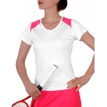 Head Shirt V-Neck 2010 weiss/pink Damen