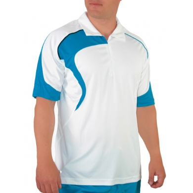 Head Polo Performance Zip weiss/blau Herren (Gr��e M)