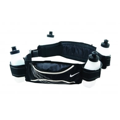 Nike Running Hydration Belt 4 Bottle schwarz
