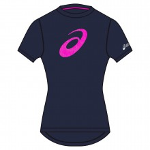 Asics Shirt Graphic 2015 dark cobalt/pink Damen