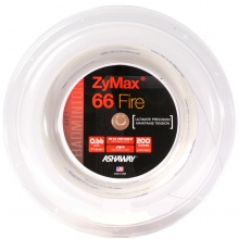 Ashaway Zymax 66 Fire Power weiss 200 Meter Rolle