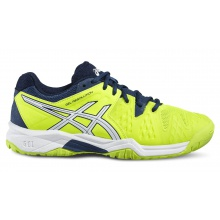 Asics Gel Resolution 6 2016 gelb Tennisschuhe Kinder