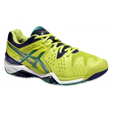 Asics Gel Resolution 6 2016 lime Tennisschuhe Herren