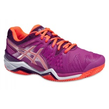 Asics Gel Resolution 6 Clay 2016 berry Tennisschuhe Damen