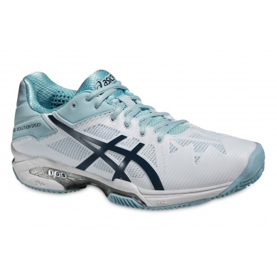 Asics Gel Solution Speed 3 Clay 2016 weiss/blau Tennisschuhe Damen