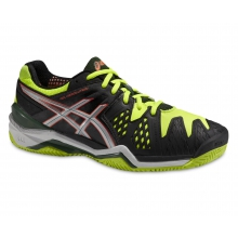 Asics Gel Resolution 6 Clay 2015 schwarz Tennisschuhe Herren
