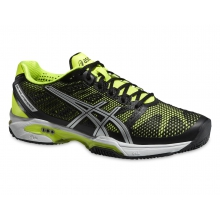 Asics Gel Solution Speed 2 Clay 2015 schwarz/gelb Tennisschuhe Herren