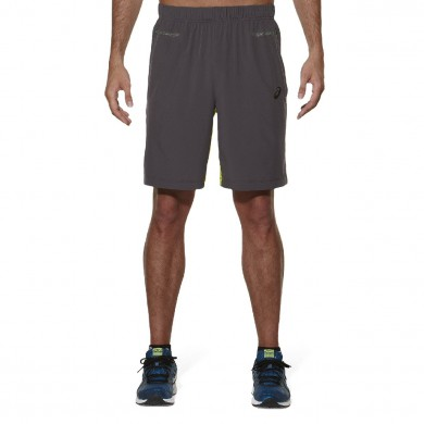 Asics Short Training Woven 9 inch 2015 grau Herren