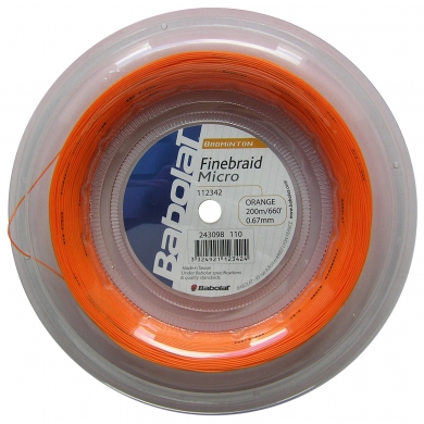 Babolat Finebraid 2 Micro orange 200 Meter Rolle