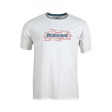Babolat Tshirt Training Core 2015 weiss Boys