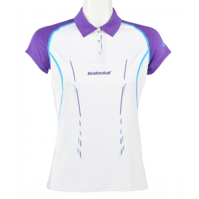 Babolat Polo Match Performance 2014 weiss Girls (Gr��e 152+164)