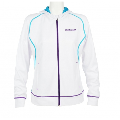 Babolat Sweatshirt Match Performance 2014 weiss Girls (Größe 128+164)