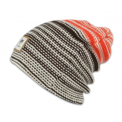 Djinns Beanie Berber Stripe weiss/braun/orange