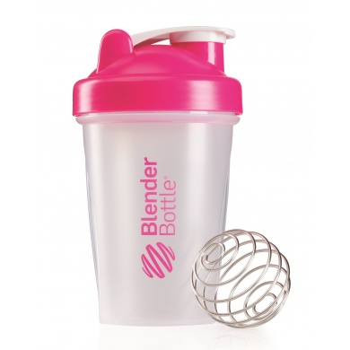 BlenderBottle Trinkflasche Classic 590ml transparent/pink