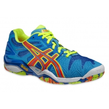 Asics Gel Resolution 5 blau/orange Tennisschuhe Herren