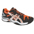 Asics Gel Resolution 5 Clay schwarz/orange Tennisschuhe Herren (Gr��e 46,5)