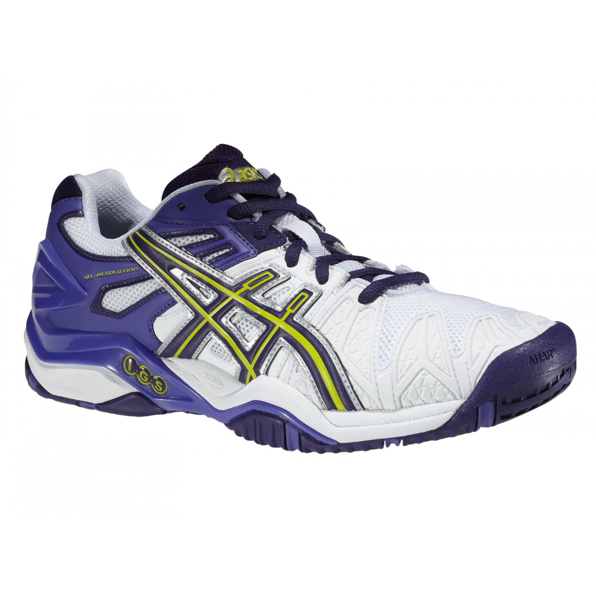 asics gel resolution 5 weiss purple tennisschuhe damen versandkostenfrei online bestellen. Black Bedroom Furniture Sets. Home Design Ideas