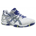 Asics Gel Resolution 5 weiss/blau Tennisschuhe Damen