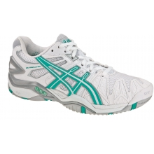 Asics Gel Resolution 5 weiss/t�rkis Tennisschuhe Damen