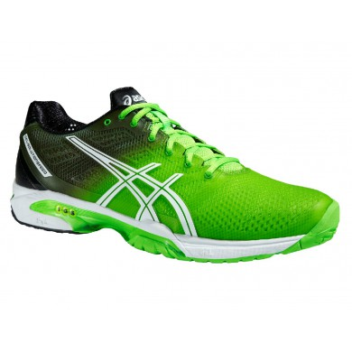 Asics Gel Solution Speed 2 Clay 2015 flashgreen Tennisschuhe Herren (Gr��e 46,5+