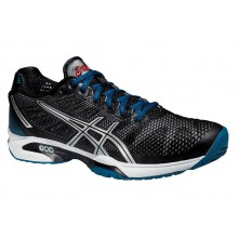 Asics Gel Solution Speed 2 Clay 2015 schwarz/blau Tennisschuhe Herren