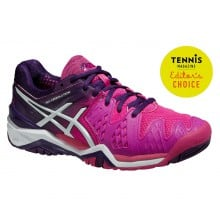 Asics Gel Resolution 6 2015 hotpink Tennisschuhe Damen