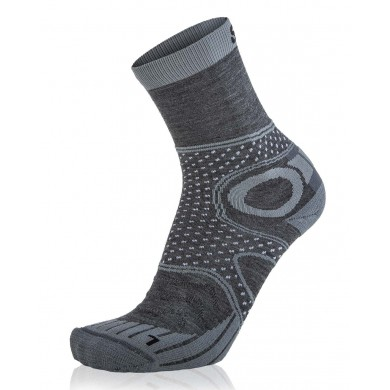 EightSox Walkingsocke Merino grau Herren