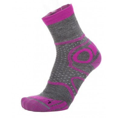 EightSox Walkingsocke Merino grau/violett Damen