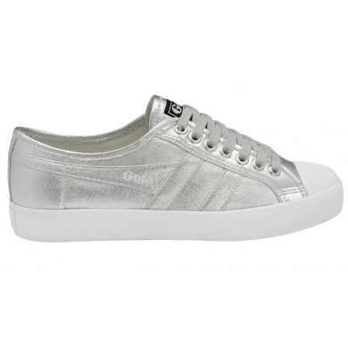 Gola Coaster Canvas metallic silber Sneaker Damen