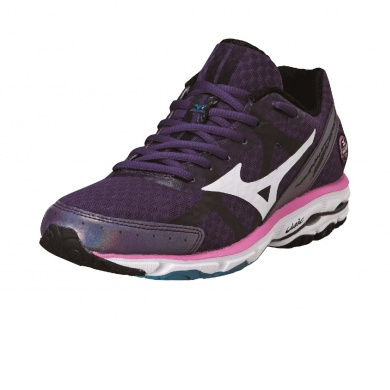 Mizuno Wave Rider 17 purple Laufschuhe Damen