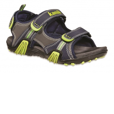 Kamik Crocodile navy/lime Sandale Kinder