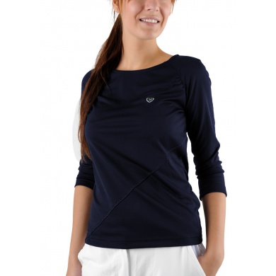 Limited Sports Shirt Reglan 3/4 Sleeve Sharon dunkelblau Damen (Größe S+L)