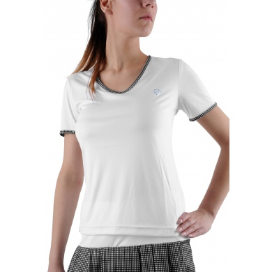 Limited Sports Shirt Tilly weiss/schwarz Damen