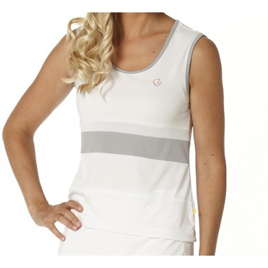 Limited Sports Tank Tolouse weiss/silver sconce Damen