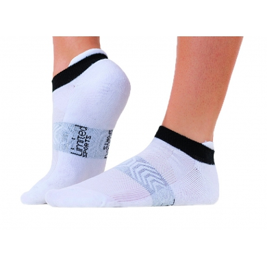Limited Sports Tennissocke Sneaker weiss/schwarz Damen