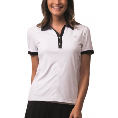 Limited Sports Polo Pam weiss/schwarz Damen