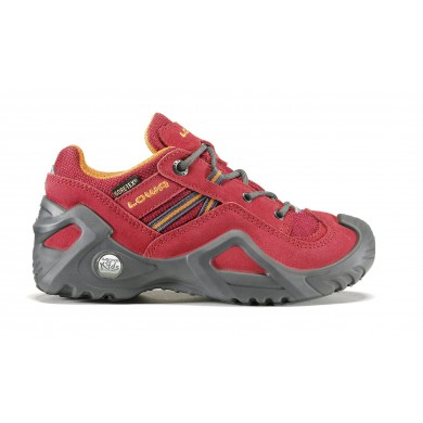 Lowa Simon GTX Lo rot/orange Outdoorschuhe Kinder (Größe 41)