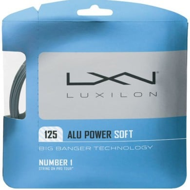 Luxilon Alu Power Soft 1.25 silber Tennissaite