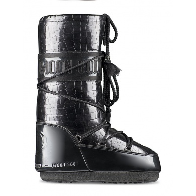 MoonBoot Crocodile anthrazit Damen (39-41)