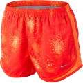 Nike Short Printed Tempo NEW rot Damen