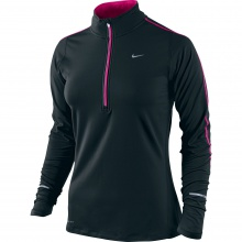 Nike Longsleeve Element Half-Zip schwarz/rose 015 Damen