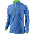Nike Longsleeve Element Half-Zip blau Damen
