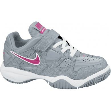Nike City Court 7 Klett grau Tennisschuhe Kinder (Gr��e 33+33,5)