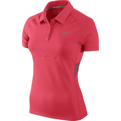 Nike Polo Advantage Sphere rot Damen (Größe S+M)