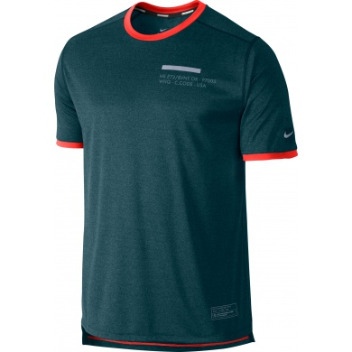Nike Tshirt Relay Graphic UV grau Herren