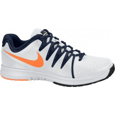Nike Vapor Court weiss/navy/orange Tennisschuhe Herren (Gr��e 45,5)