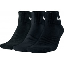 Nike Tennissocken Cotton Cushion Quarter schwarz 3er Herren (Größe 34-38)