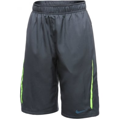 Nike Short NET magnetgrau/lime Boys (Gr��e 164)