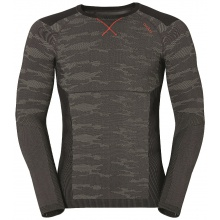 Odlo Longsleeve Blackcomb Evolution Warm grau/orange Herren